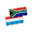 flags republic south africa and luxembourg vector image vector image