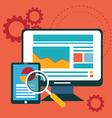 Flat design modern icons set of website SEO vector image vector image