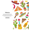 Flat mexico attributes background