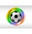 Football abstract circle on white rainbow