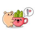 funny cartoon kawaii style vector image vector image
