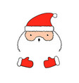 funny isolated santa claus in vector image