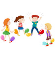 Game of balloon popping vector image vector image