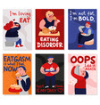 gluttony cards set vector image vector image