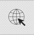 go to web icon isolated on transparent background vector image vector image