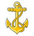 gold anchor vector image vector image