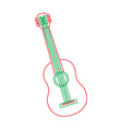 guitar instrument musical carnival design vector image vector image