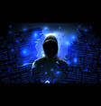 hacker using internet hacked abstract vector image vector image