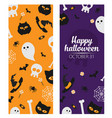 halloween banner set template place for your text vector image vector image