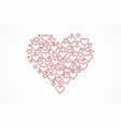 heart shape for celebrations vector image vector image