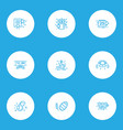 holiday icons line style set with bell christmas vector image vector image