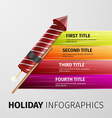 holiday infographics vector image vector image