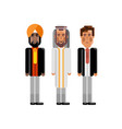indian european and arabic staff vector image vector image