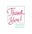 International Thank You Day vector image