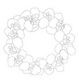 iris flower outline wreath vector image vector image