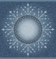 jeans snowflake vector image vector image