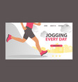 jogging at morning and running man web vector image