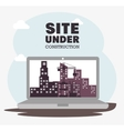 laptop site under construction icon vector image