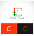 letter c dot technology company logo vector image vector image