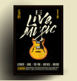 live music poster flyer vector image vector image