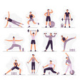 man sport activities strong guy in sport outfit vector image vector image