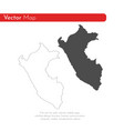 map peru isolated black on vector image vector image