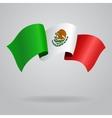 Mexican waving Flag vector image