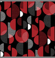 modern red and black active seamless pattern vector image vector image