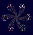 money award swirl twist vector image vector image