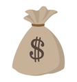 Money bag or sack cartoon icon vector image vector image