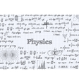 Physics pattern background in exercise book vector image