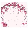 pink salkura in spring sumer vector image vector image