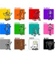 primary colors cartoon set vector image vector image