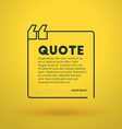 Quote Blank Design Template Typographic Background vector image