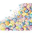 rainbow circles stream vector image vector image