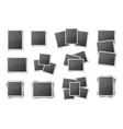 realistic blank snapshot frames set vector image vector image