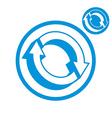 Reload refresh arrows loop simple single color vector image vector image