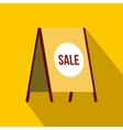Sandwich board with text Sale icon flat style vector image