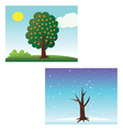seasons tree vector image vector image