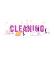 service professional cleaners work concept vector image vector image