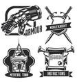 set knight emblems labels badges logos vector image