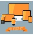 set modern user interface - digital tablet vector image