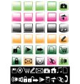 set of bright icons vector image