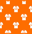 shirt with print pattern seamless vector image vector image