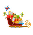 Sled with Gifts vector image vector image