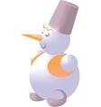 Snowman color 02 vector image vector image