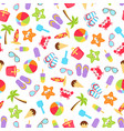 summer time beach holiday seamless vector image vector image