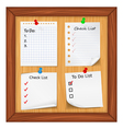 todo list and check list vector image vector image