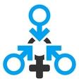Triple Penetration Sex Flat Icon vector image vector image
