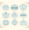 vintage gold emblem set flourishes crest vector image vector image